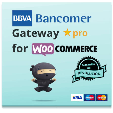 BBVA Bancomer WooCommerce plugin de pasarela