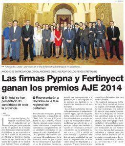 Las firmas Pypna y Fertinyect ganan los premios aje 2014 codection blog