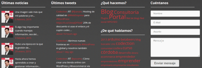 Curso WordPress: manejo de widgets y barras laterales