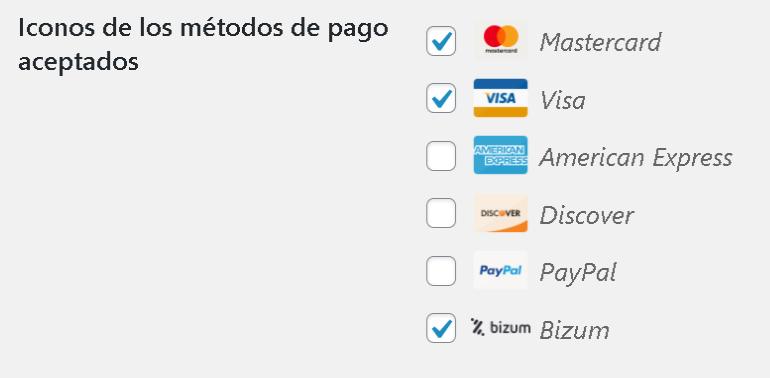 Iconos pasarelas de pago EDD